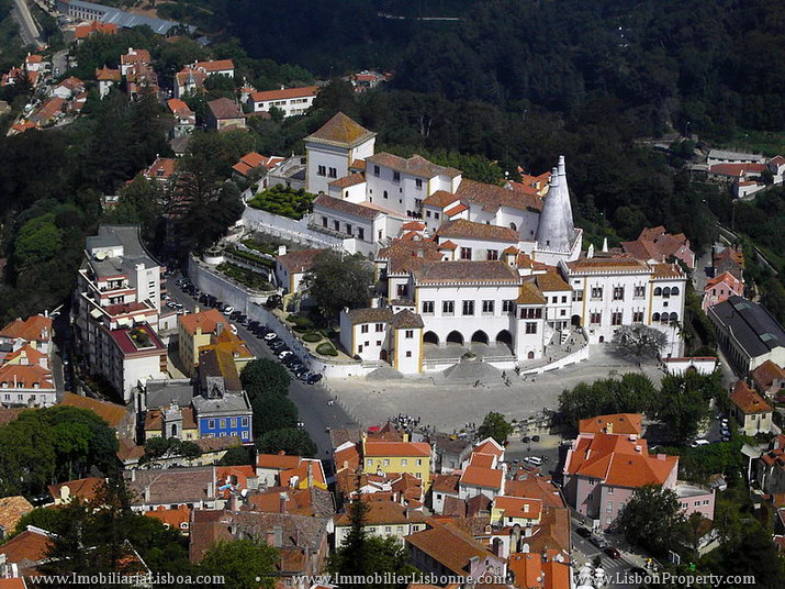 View of the town of Sintra